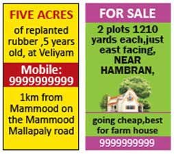 Classified Display Newspaper Ads Aar Kay Ad
